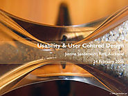 Usability and user-centred design