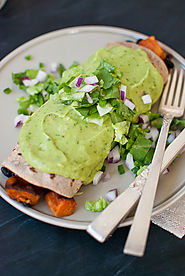 Sweet Potato Burrito with Avocado Salsa