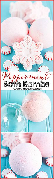 Handmade Peppermint Bath Bombs