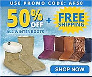 50% off all Winter Boots and Free Shipping with Code AF50