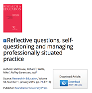 Reflective questions, self-questioning and managing professionally situated practice