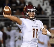 (CA) QB Preston Eklund (Whitney) 6-3, 195