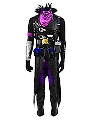 Qi Pao Hot Game Fort Nite Figure Heroes Cosplay Costume Halloween Battle Outfit (Man-XXL, Raven Outfit)