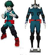 Details about My Hero Boku no Hero Academia Midoriya Izuku Deku Battle Cosplay Costume