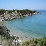 The smaller Kavos beach