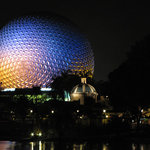 Epcot Ball at Night