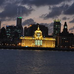 Looking across the river at the Bund from Pudong