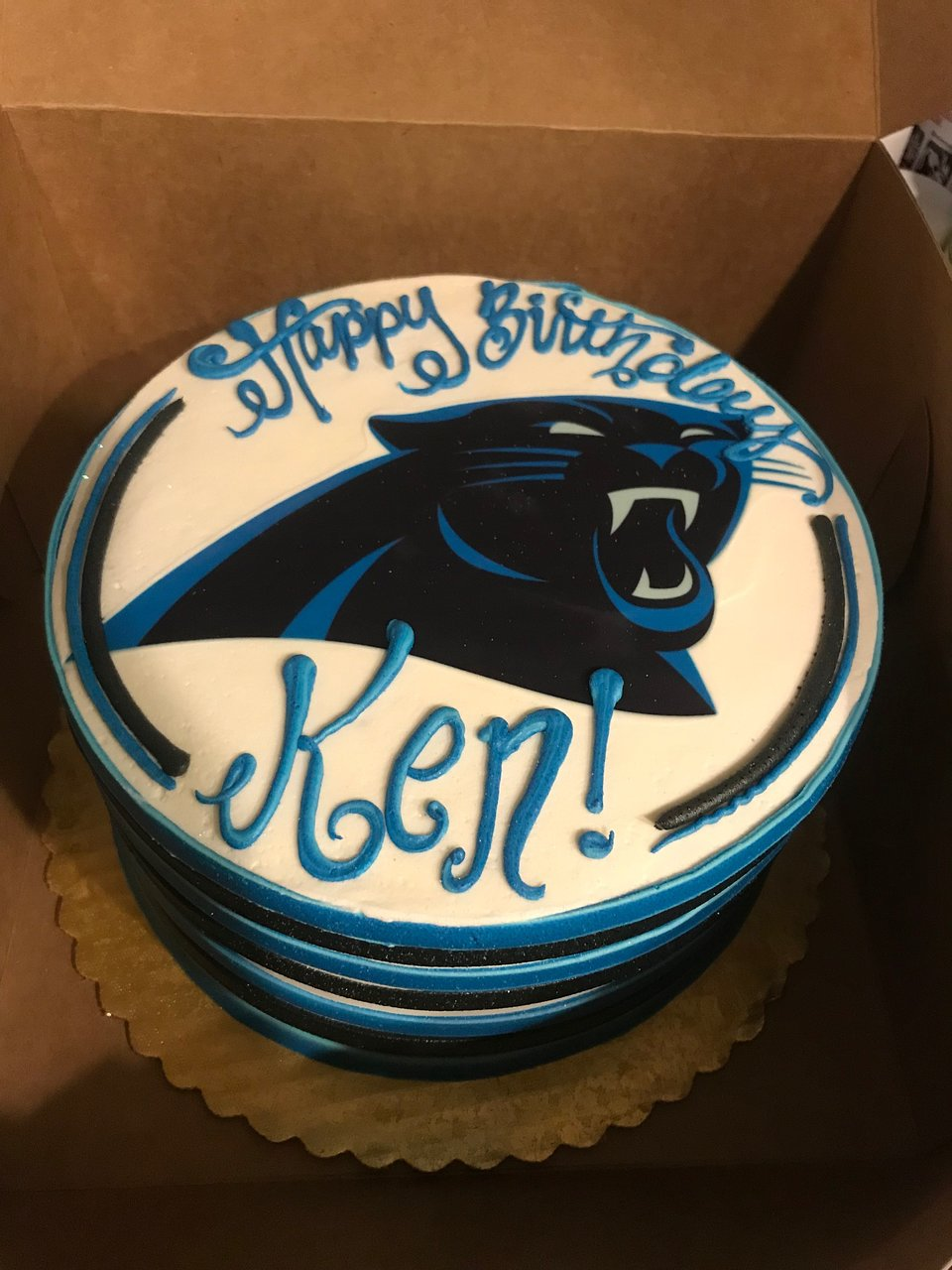 Carolina Panthers Birthday Chocolate Cake Picture Of Coccadotts Myrtle Beach Tripadvisor