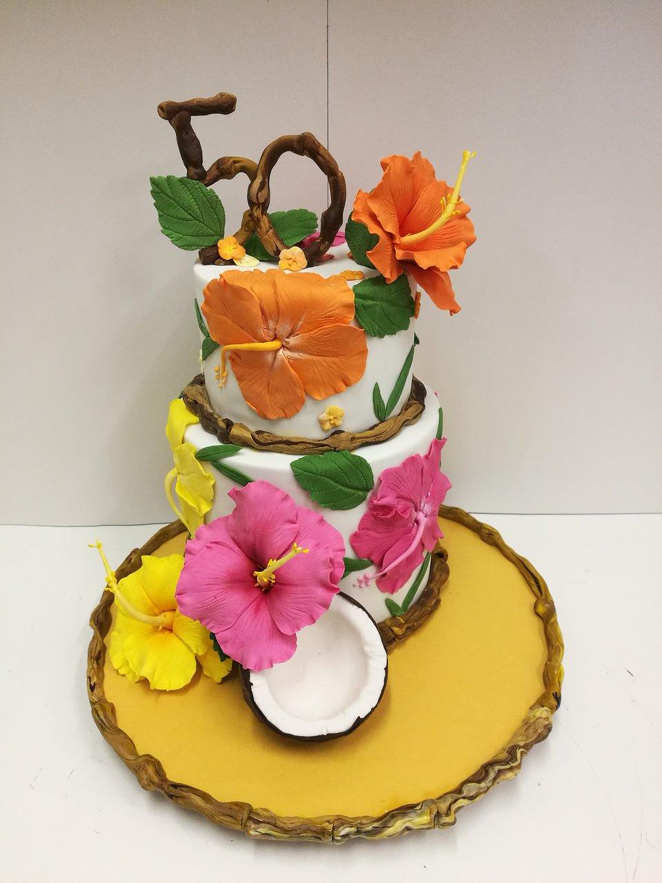 Hawaiian Theme 50th Birthday Cakes Picture Of Pasticceria Mancuso Burwood Tripadvisor