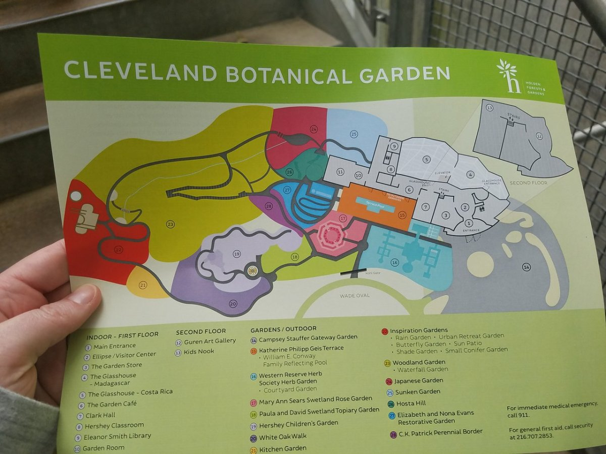 Map - Picture of Cleveland Botanical Garden, Cleveland - Tripadvisor