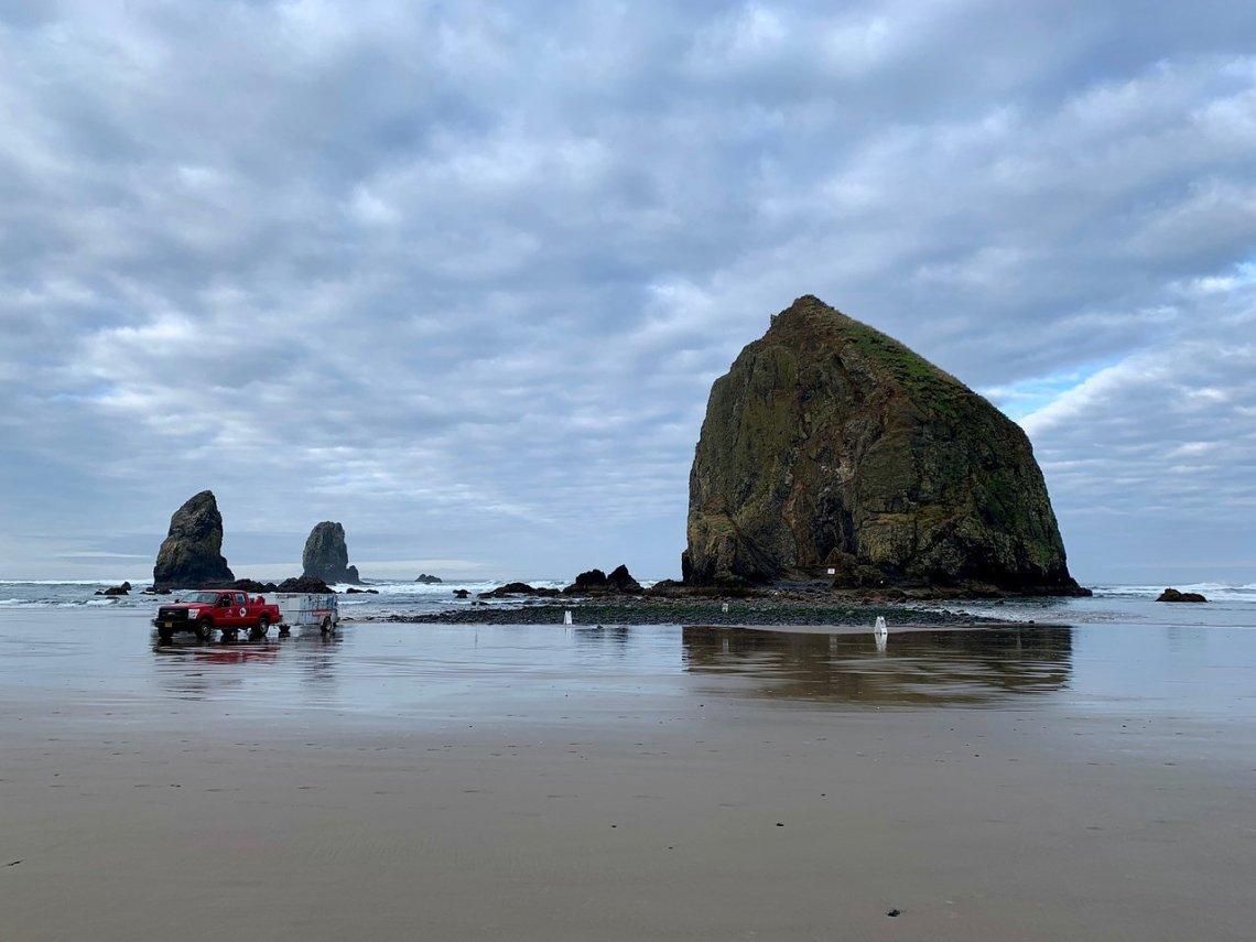 pantai Cannon di Oregon