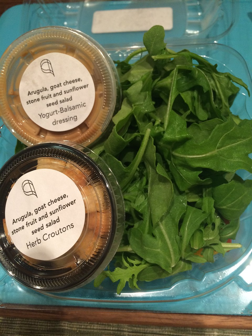 Arugula Salad Kit Picture Of Alinea Chicago Tripadvisor