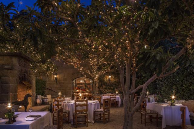 """soirée dans un restaurant en plein air avec des lumières scintillantes dans les arbres """"width ="""" 2000 """"height ="""" 1333"""