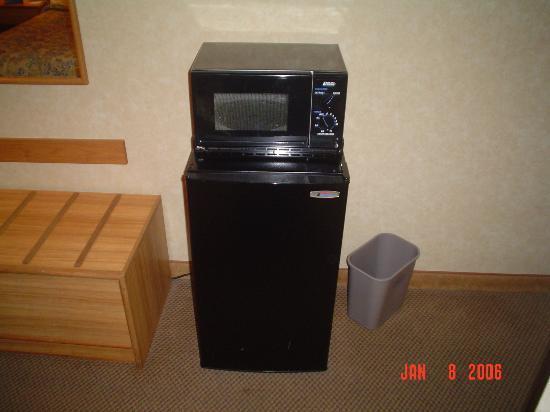 mini fridge microwave combo picture