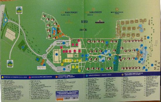 Bavaro Resort Punta Can Gran Bahia Principe Map