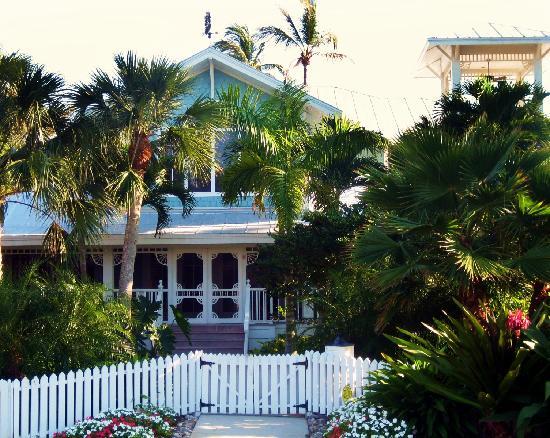 decorating pastels Naples FL house blue exterior