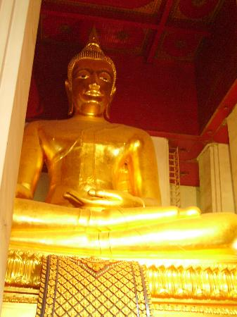 Ayutthaya, Thailand: Gold Buddha