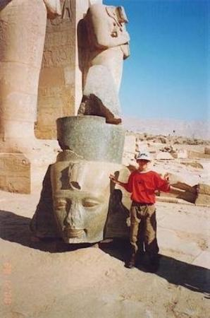 Egypt, Ramesseum, head of Ramses II