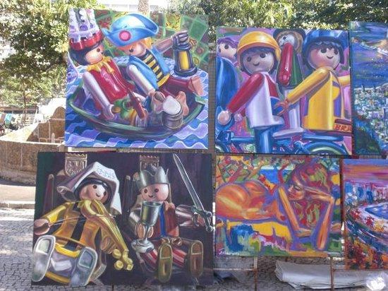 Art for sale at the Hippie Fair