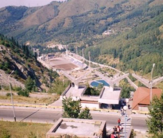 Almaty Kazakhstan Medeo View Skating Rink