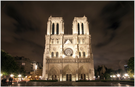 Notre Dame Cathedral Taken The Following Night Picture