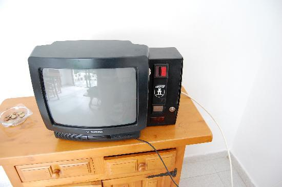 green ocean coin operated tv