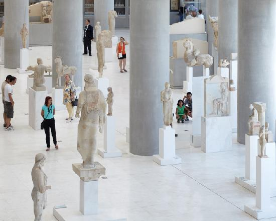 statues inside the new Acropolis museums   Picture of Athens  Attica     Athens  Greece  statues inside the new Acropolis museums