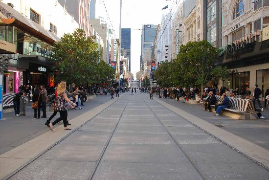 Photos of Bourke Street Mall and Melbourne's Central, Melbourne