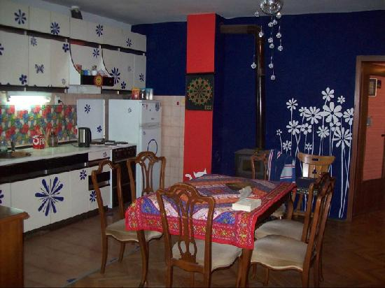 Küche im Hostel