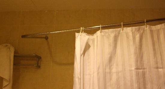 broken shower curtain holder picture