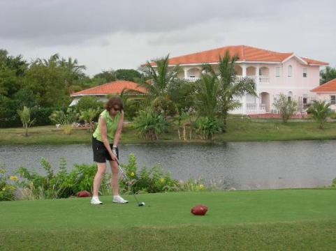 Course is lined with beautiful homes   Picture of Cocotal Golf     Cocotal Golf   Country Club  Course is lined with beautiful homes