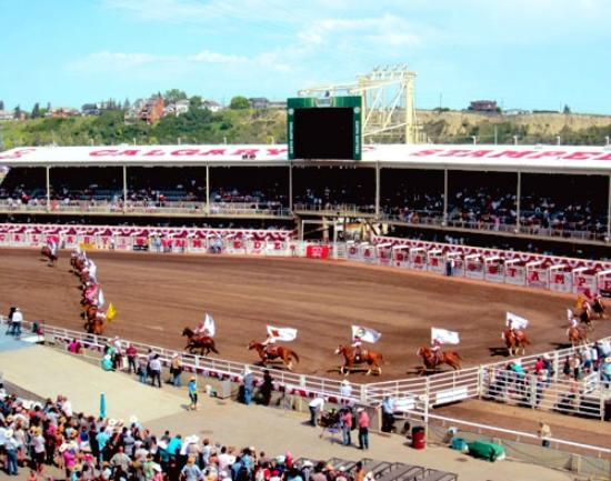 The Grandstand And Infield On A Beautiful Afternoon At The