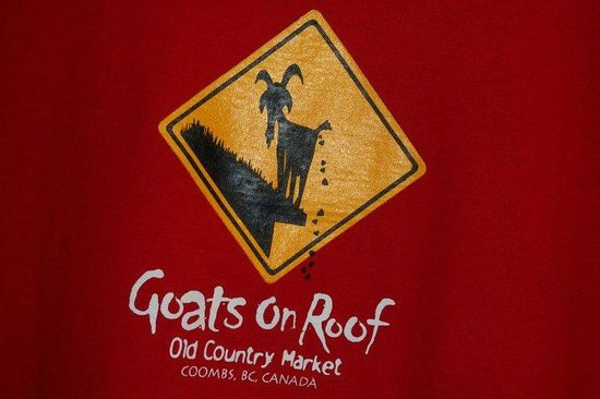 """Goats on Roof"" Old Country Market – Coombs, BC"