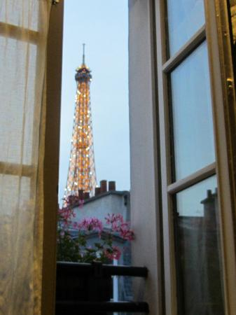 Hotel De Londres Eiffel View From Our Room