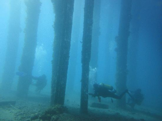 Beautifully atmospheric shot (jetty outside Padangbai, Bali's east coast) - Picture of AquaMarine Diving - Bali, Kuta
