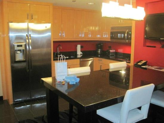 Elara By Hilton Grand Vacations Kitchen View Of The One Bedroom Suite
