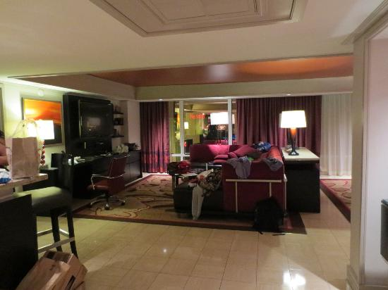 2 Bedroom Tower Suite Living Area Picture Of The Mirage Hotel