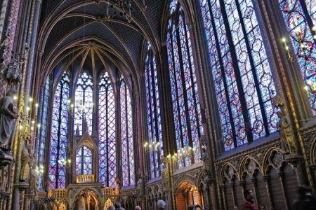 Sainte Chapelle Paris Video Gothic Khan Academy France Interior Of Upper Chapel South Side Be Stunned By The Beauty