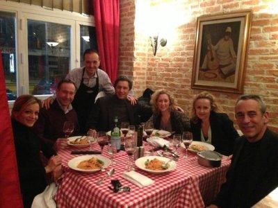 Thierry Ardisson, Laurent Bazin, Alba Ventura, Caroline Roux, Audrey Crespo  Mara And Friends - Picture Of Da Mimmo, Paris - Tripadvisor