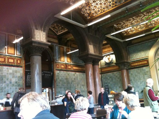 Scones Picture Of The Tiled Hall At Leeds Art Gallery