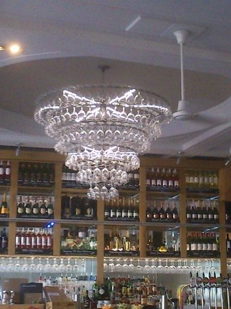 All Bar One Brighton Chandelier Made From Wine Glasses