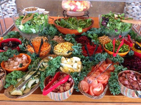 "Garden Delite ""A"" Salad Bar & Soup Restaurant: Full salad bar"