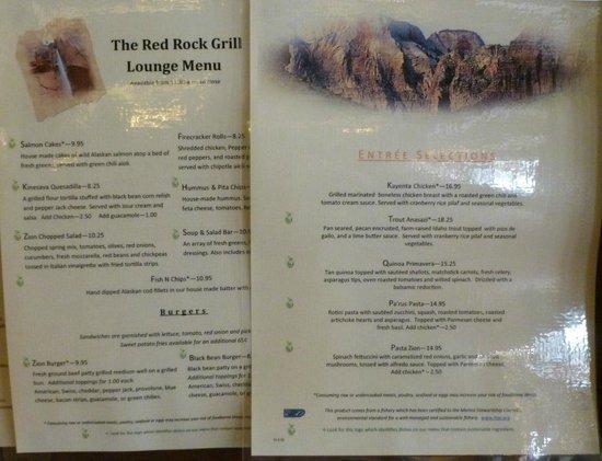 Dinner Zion National Park