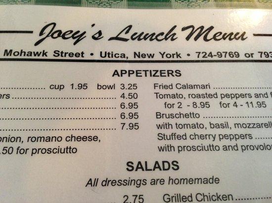 Lunch Menu York County