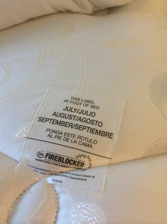 Homewood Suites By Hilton Fort Myers Airport Fgcu Fire Safety Label Serta