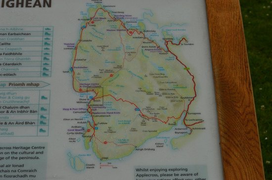 A local map   Picture of Bealach na Ba Road  Applecross   TripAdvisor Bealach na Ba Road  A local map