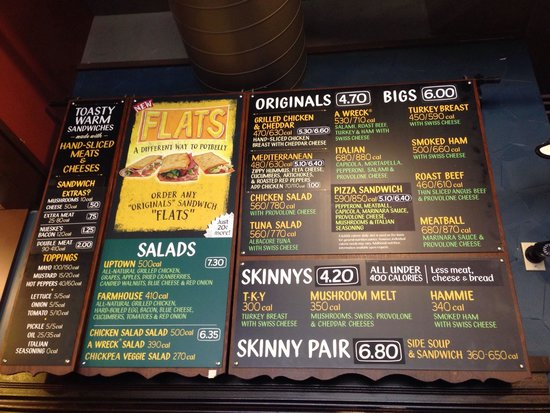Menu Picture Of Potbelly Sandwich Works Chicago