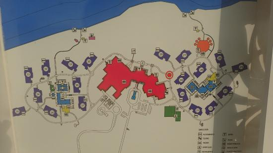 Map Of Resort Sunwing On The West Others On The East