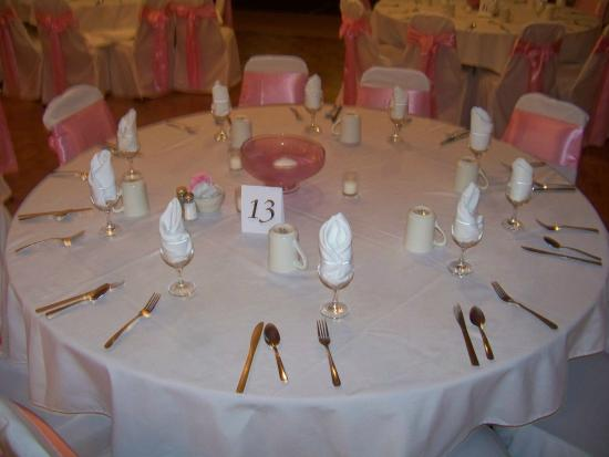 Banquet Table Settingone Example Picture Of Corsis