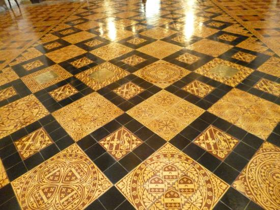 victorian floor tiles with brass